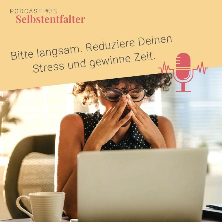 #33 Bitte langsam. Reduziere Deinen Stress und gewinne Zeit.